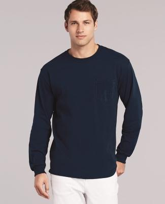 2410 Gildan 6.1 oz. Ultra Cotton® Long-Sleeve Pocket T-Shirt