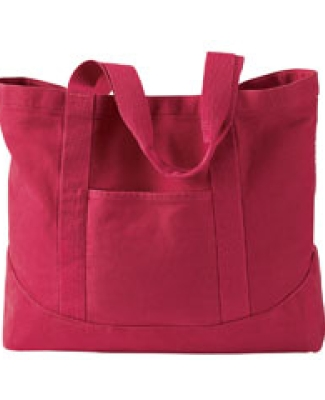1904 Authentic Pigment 14 oz. Pigment-Dyed Large Canvas Tote POPPY