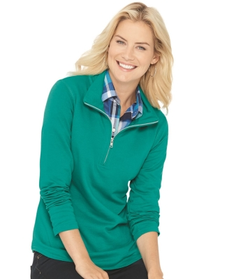 3764 LAT - Ladies' French Terry Quarter-Zip Pullover Catalog