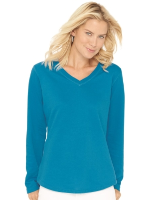 LAT 3761 Women's V-Neck French Terry Pullover Catalog