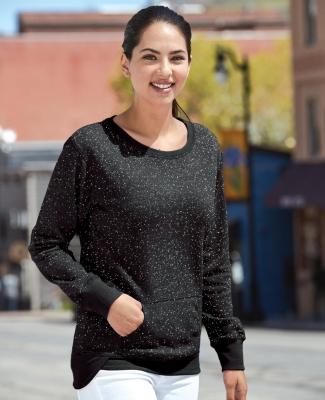 8867 J. America Women's Glitter Crewneck Sweatshirt