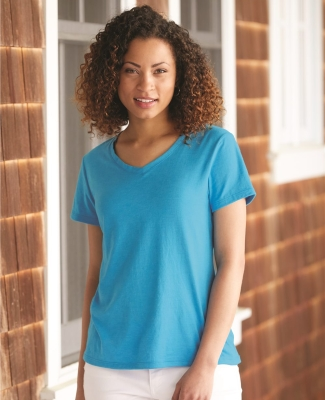 Hanes 42V0 X-Temp Women's V-Neck T-Shirt Catalog