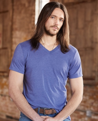 6752 Anvil  Triblend V-Neck T-Shirt Catalog