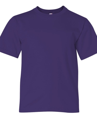 990B Anvil Combed Ring Spun Cotton Fashion Youth T-Shirt  PURPLE