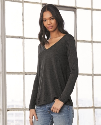 BELLA+CANVAS 8855 Womens Flowy Long Sleeve V-Neck Catalog