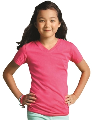 LAT 2607 Girls' V-Neck Fine Jersey T-Shirt Catalog