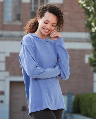 Comfort Colors 4900 Garment Dyed Hooded Long Sleeve Tee Catalog