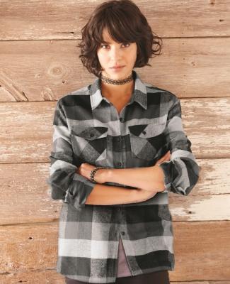 Burnside 5210 Women's Yarn-Dyed Long Sleeve Flannel Shirt