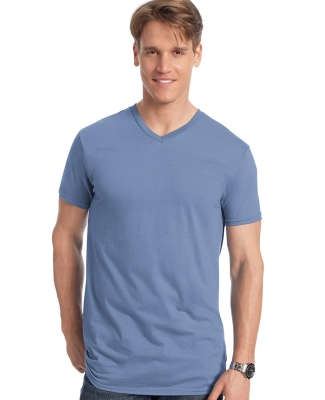 498V Hanes 4.5 oz., 100% Ringspun Cotton nano-T® V-Neck T-Shirt Catalog