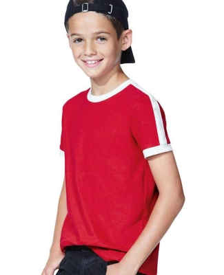 LA T 6132 Youth Soccer Ringer Tee Catalog