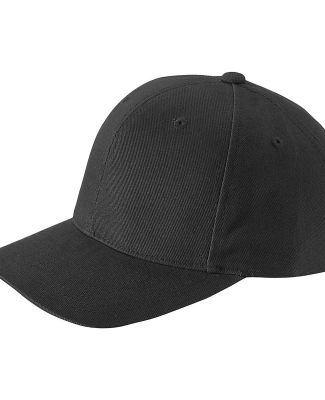 6363 Yupoong Solid Brushed Cotton Twill Cap BLACK