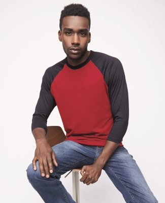 BB453W 50/50 Three-Quarter Sleeve Raglan T-shirt Catalog