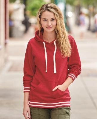 J America 8651 Relay Women's Hooded Pullover Sweatshirt