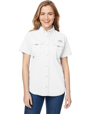 Columbia Sportswear 7313 Ladies' Bahama™ Short-Sleeve Shirt WHITE