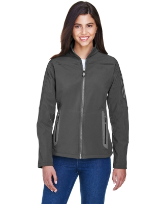 North End 78060 Ladies' Three-Layer Fleece Bonded Soft Shell Technical Jacket GRAPHITE