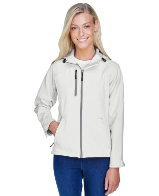North End 78166 Ladies' Prospect Two-Layer Fleece Bonded Soft Shell Hooded Jacket CRYSTAL QUARTZ