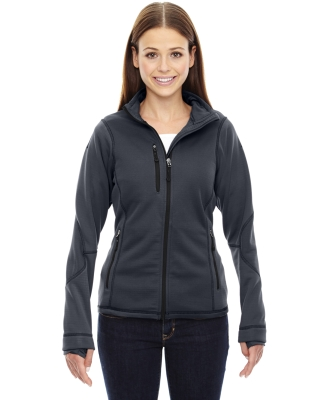 78681 Ash City - North End Sport Red Ladies' Pulse Textured Bonded Fleece Jacket with Print CARBON