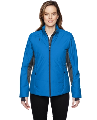 78696 Ash City - North End Sport Red Ladies' Immerge Insulated Hybrid Jacket with Heat Reflect Technology OLYMPIC BLUE