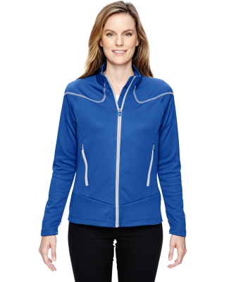 78806 Ash City - North End Sport Red Ladies' Interactive Cadence Two-Tone Brush Back Jacket NAUT BLU/ PLTNM