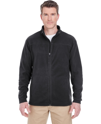 UltraClub 8185 Men's Cool & Dry Full-Zip Microfleece BLACK