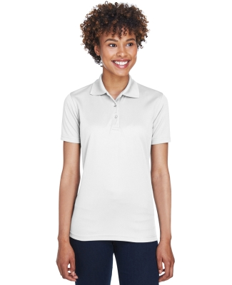 8210L UltraClub® Ladies' Cool & Dry Mesh Piqué Polo  WHITE