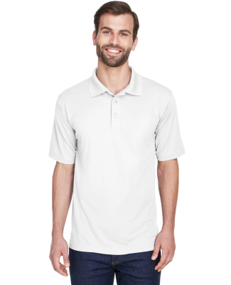 8210 UltraClub® Men's Cool & Dry Mesh Piqué Polo WHITE