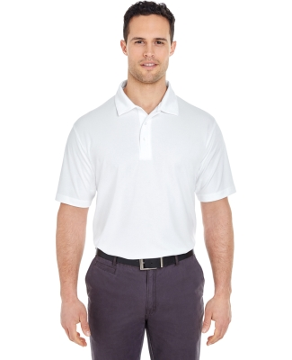 UltraClub 8320 Men's Platinum Performance Jacquard Polo with TempControl Technology WHITE