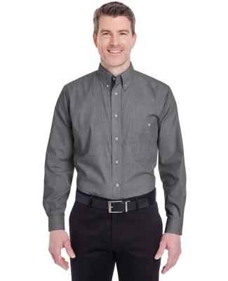 8340 UltraClub® Men's Wrinkle-Free End-on-End Blend Woven Shirt   BLACK