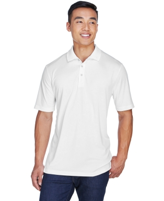 8405  UltraClub® Men's Cool & Dry Sport Mesh Performance Polo WHITE