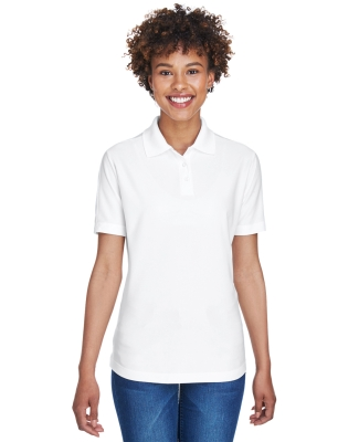 8414 UltraClub® Ladies' Cool & Dry Elite Performance Polo  WHITE