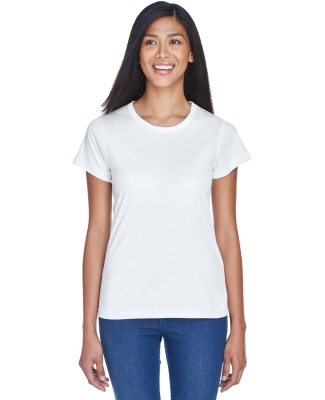8420L UltraClub Ladies' Cool & Dry Sport Performance Interlock Tee  WHITE
