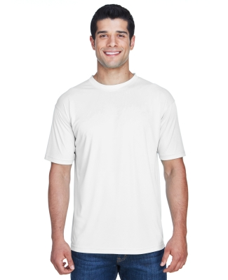 8420 UltraClub Men's Cool & Dry Sport Performance Interlock Tee  WHITE