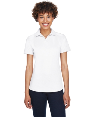 8425L UltraClub® Ladies' Cool & Dry Sport Performance Interlock Polo WHITE