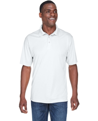 8425 UltraClub® Men's Cool & Dry Sport Performance Interlock Polo WHITE