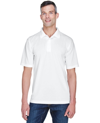 8445 UltraClub® Men's Cool & Dry Stain-Release Performance Polo  WHITE