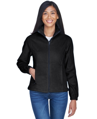 8481 UltraClub® Polyester Ladies' Iceberg Fleece Full-Zip Jacket BLACK