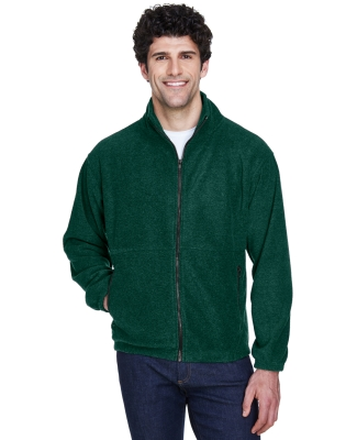 8485 UltraClub® Polyester Adult Iceberg Fleece Full-Zip Jacket FOREST GREEN