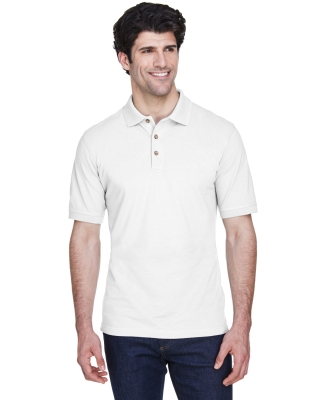 8535 UltraClub® Men's Classic Pique Cotton Polo WHITE
