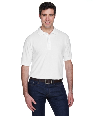 8540 UltraClub® Men's Whisper Pique Blend Polo   WHITE
