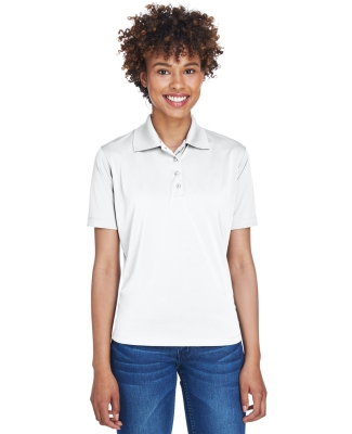 UltraClub 8610L Ladies' Cool & Dry 8 Star Elite Performance Interlock Polo WHITE