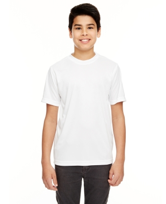 UltraClub 8620Y Youth Cool & Dry Basic Performance T-Shirt WHITE