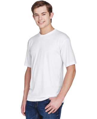 UltraClub 8620 Men's Cool & Dry Basic Performance T-Shirt WHITE