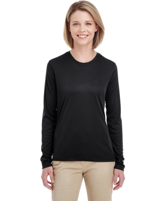UltraClub 8622W Ladies' Cool & Dry Performance Long-Sleeve Top BLACK