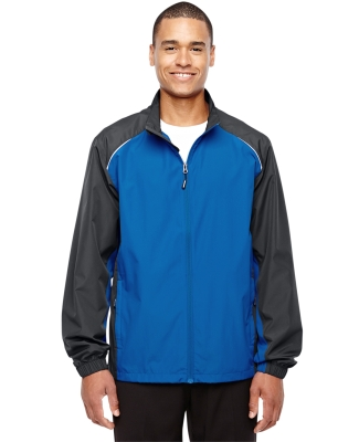 88223 Ash City - Core 365 Men's Stratus Colorblock Lightweight Jacket TRU ROYAL/ CRBN