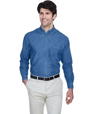 8960 UltraClub® Men's Cypress Denim Button up Shirt INDIGO