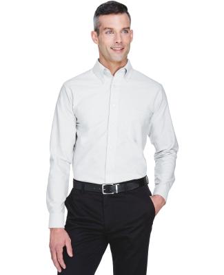 8970 UltraClub® Men's Classic Wrinkle-Free Blend Long-Sleeve Oxford Woven Shirt  WHITE