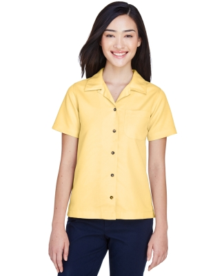 8981 UltraClub® Ladies' Blend Cabana Breeze Camp Shirt   BANANA