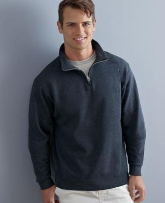 JERZEES 14 Zip Cadet Collar Sweatshirt 995M