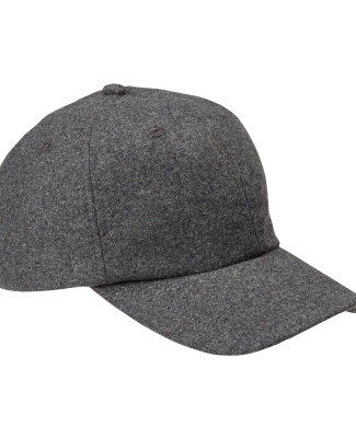 BA528 Big Accessories Wool Baseball Cap CHARCOAL
