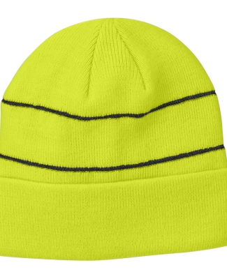 BA535 Big Accessories Reflective Beanie NEON GREEN